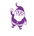 silhouette santa claus with christmas suit and vector image