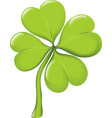 Single four-leaf clover vector image