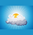 sky background with sunshine and cloud vector image