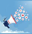 social media and digital marketing concept vector image vector image