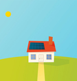 Solar powered cartoon house vector image vector image