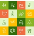 Spa Outline Icon Set vector image vector image