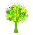 Splatter Tree vector image vector image