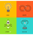 start up concepts in bright colors vector image vector image