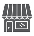 store glyph icon business and market shop vector image vector image