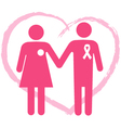 Support a breast cancer surviver vector image