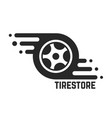 tire store with abstract tyre vector image vector image