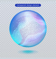 water rain drop isolated on transparent background vector image