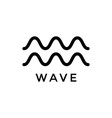wave icon design template isolated vector image vector image