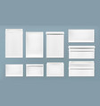 white envelope a4 dl and c6 template vector image