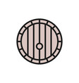 wine barrel flat color line icon vector image
