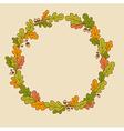 wreath oak branches vector image vector image