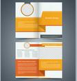yellow bifold brochure template design vector image vector image