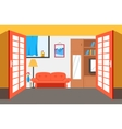 House room background Flat vector image
