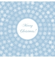 Delicate Merry Christmas Greeting Card with Words vector image
