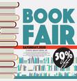 50 percent off book fair festival poster