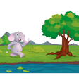 An elephant at the riverbank vector image vector image