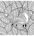 Animal design Adult coloring concept white vector image vector image