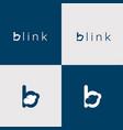 b letter logo cloud logo vector image