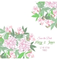 Background with pink flowers and pink peonies vector image