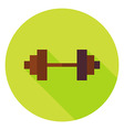 Barbell Circle Icon vector image vector image