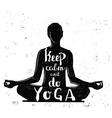 black girl yoga with text vector image vector image