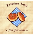 Bread On A Napkin 19 vector image vector image
