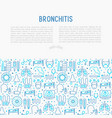 bronchitis concept with thin line icons vector image