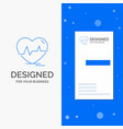business logo for ecg heart heartbeat pulse beat vector image