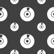 CD or DVD icon sign Seamless pattern on a gray vector image