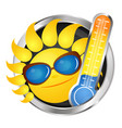 cheerful sun and thermometer vector image