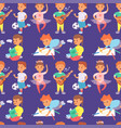 children playing different types of home vector image vector image