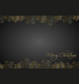 christmas black background lined golden vector image