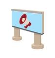 City outdoor billboard icon cartoon vector image vector image