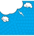 Comic pop art blue background with halftone vector image