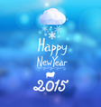 Congratulatory New Year background with text vector image