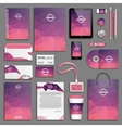 Corporate identity template set vector image vector image