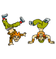 Couple breakdancers vector | Price: 1 Credit (USD $1)