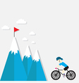cycling on the mountain vector image vector image
