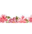dahlia macro flower banner floral horizontal vector image