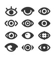 eyes icon set isolated eye collection vector image