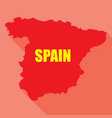 flag of spain in a flat vector image vector image