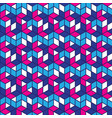 geometric pattern in retro style in red and blue vector image vector image