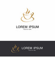 gold coffe hot abstract logo vector image vector image