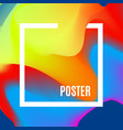 gradient waves design template with morden bright vector image