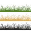 grass and meadow plants silhouette vector image vector image