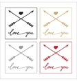 hand drawn set icons love pastel vector image vector image