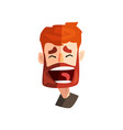 happy laughing redhead bearded man male emotional vector image vector image