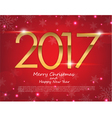 Happy New Year 2017 text design greeting vector image vector image
