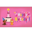 Happy Third Birthday card vector image vector image